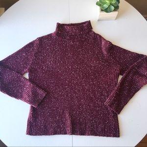 Sweaters - Newport News Turtleneck Maroon Sweater